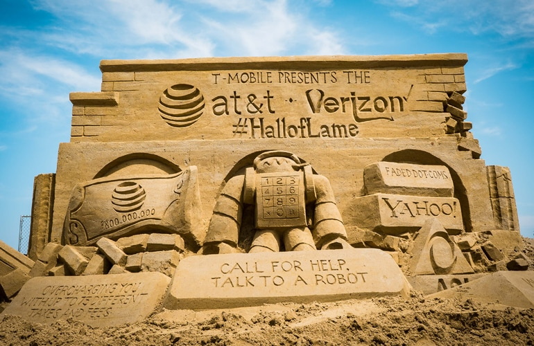Hey, AT&T and Verizon: Get Your Heads Out of the Sand | T