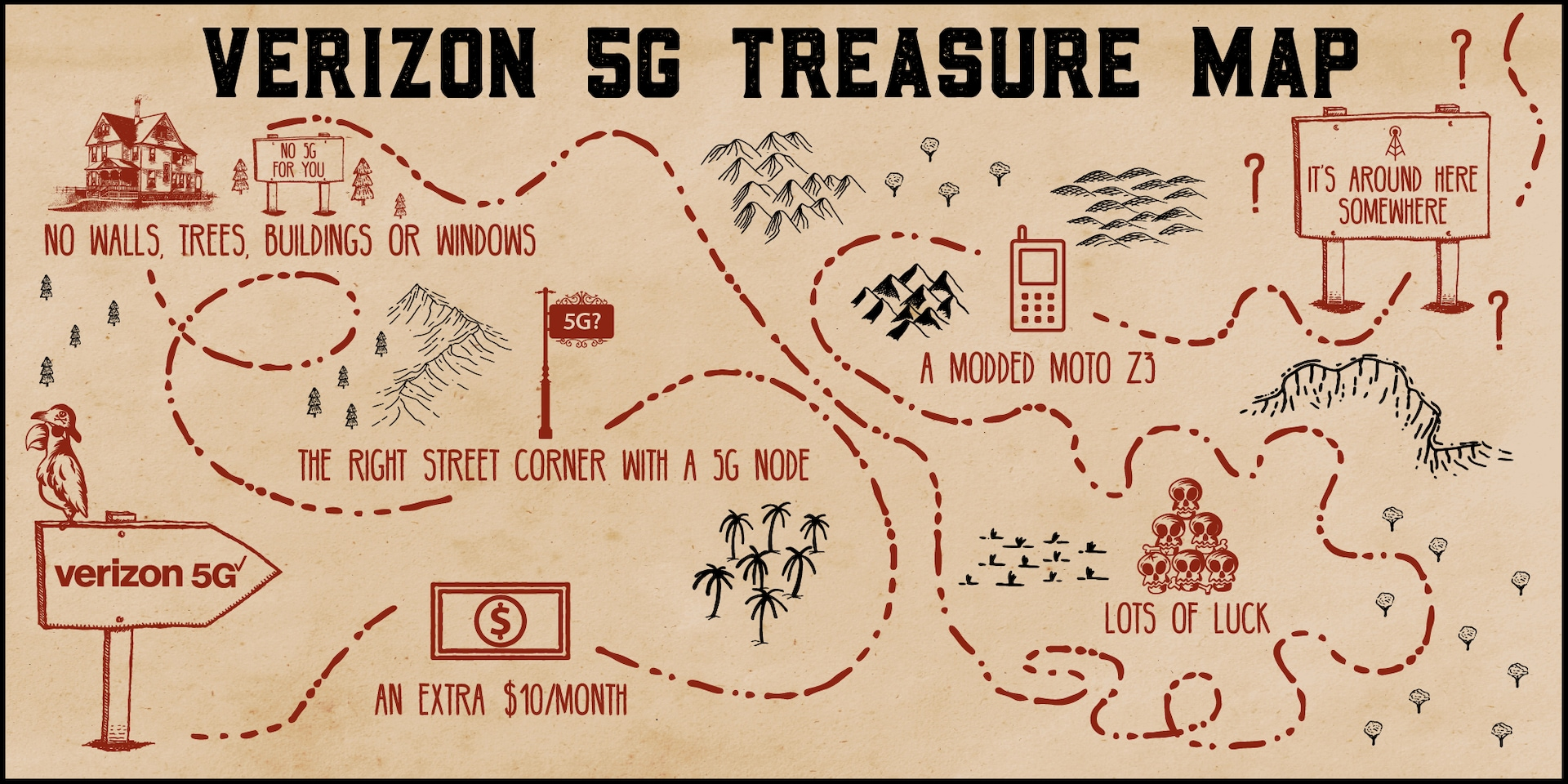 Verizon 5G Treasure Hunt Map