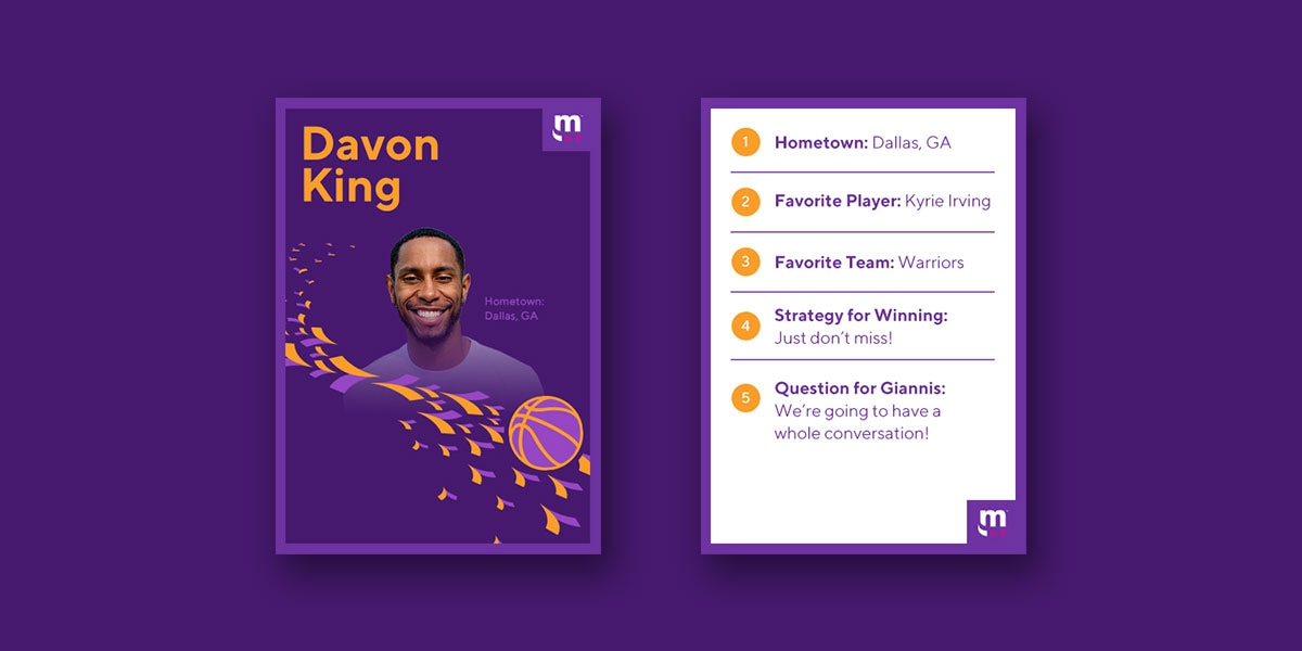 Davon King player card