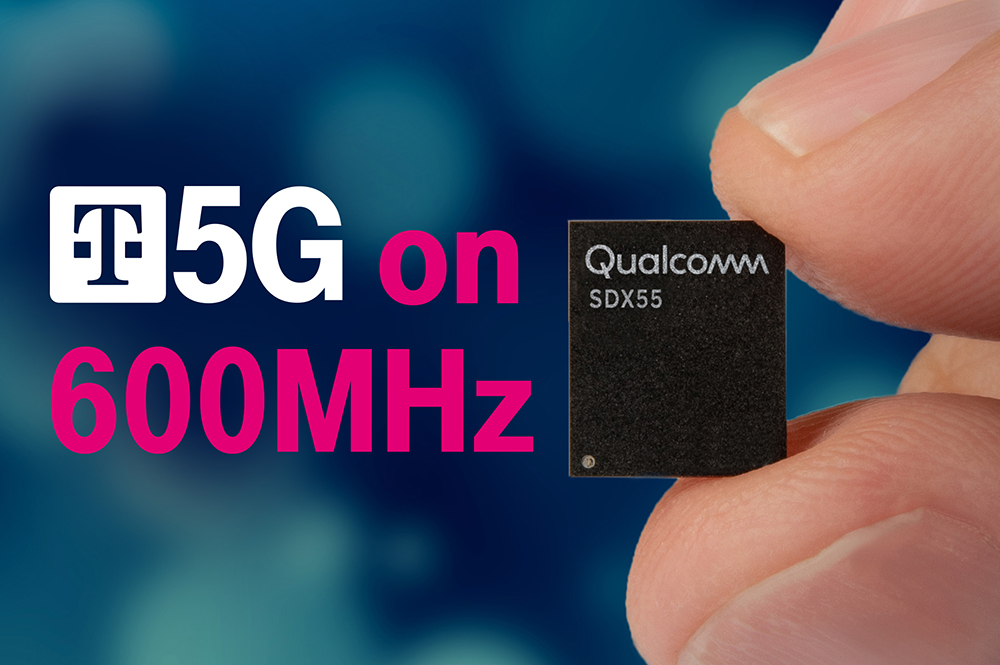 T-Mobile, Qualcomm and Ericsson completed the world's first low-band data session on a commercial 5G modem. The Qualcomm Snapdragon X55 5G modem will power devices that tap into T-Mobile's 600 MHz spectrum on 5G.