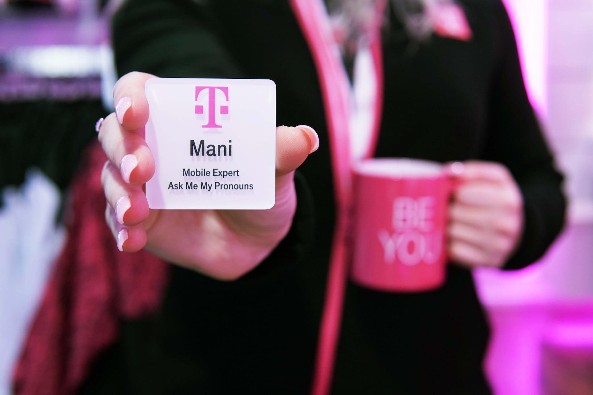 T-Mobile introduces new retail name badges with employee pronouns
