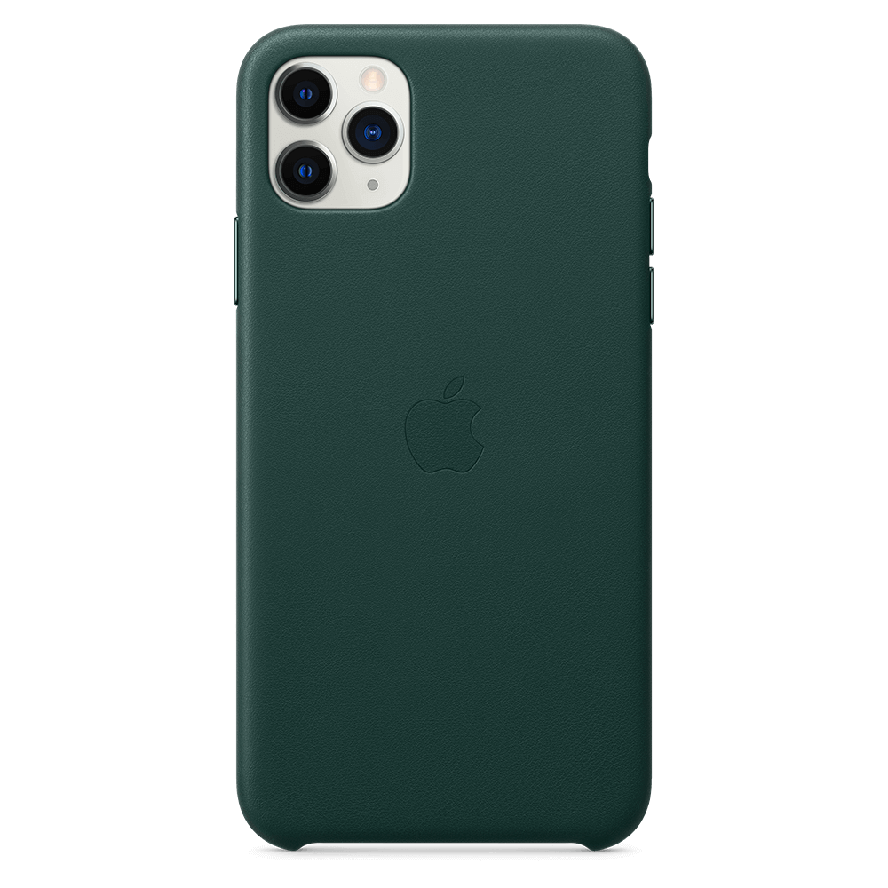Apple Leather Case for Apple iPhone 11 Pro Max - Green