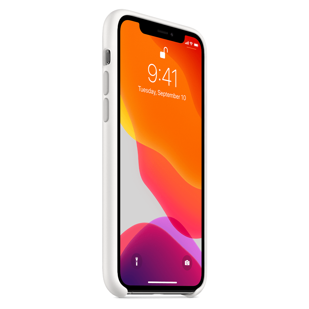 Apple Silicone Case for Apple iPhone 11 Pro - White
