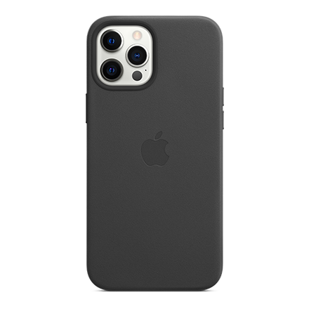 Apple Leather Case with MagSafe for Apple iPhone 12 Pro Max - Black