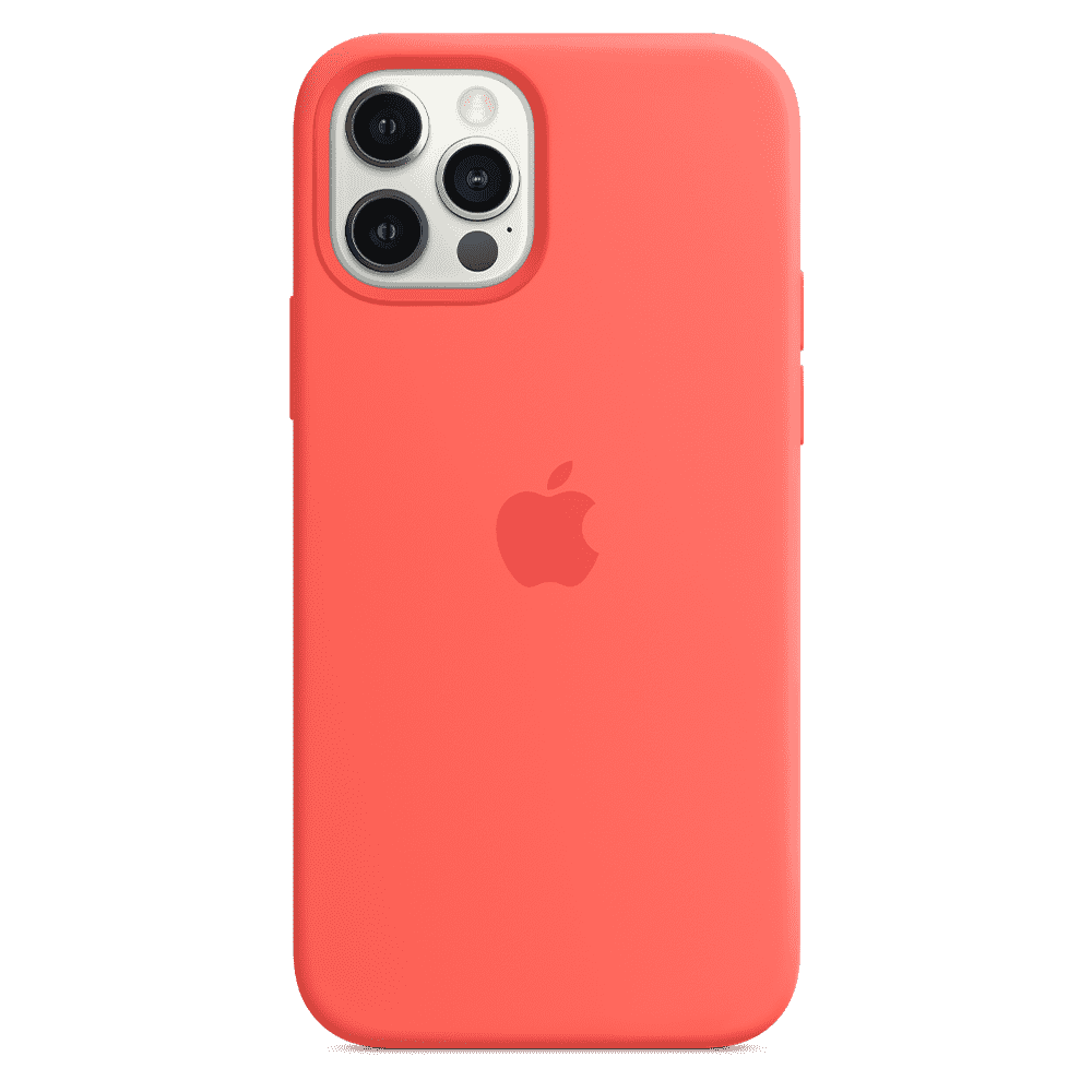 Apple Silicone Case with MagSafe for Apple iPhone 12/12 Pro - Pink Citrus