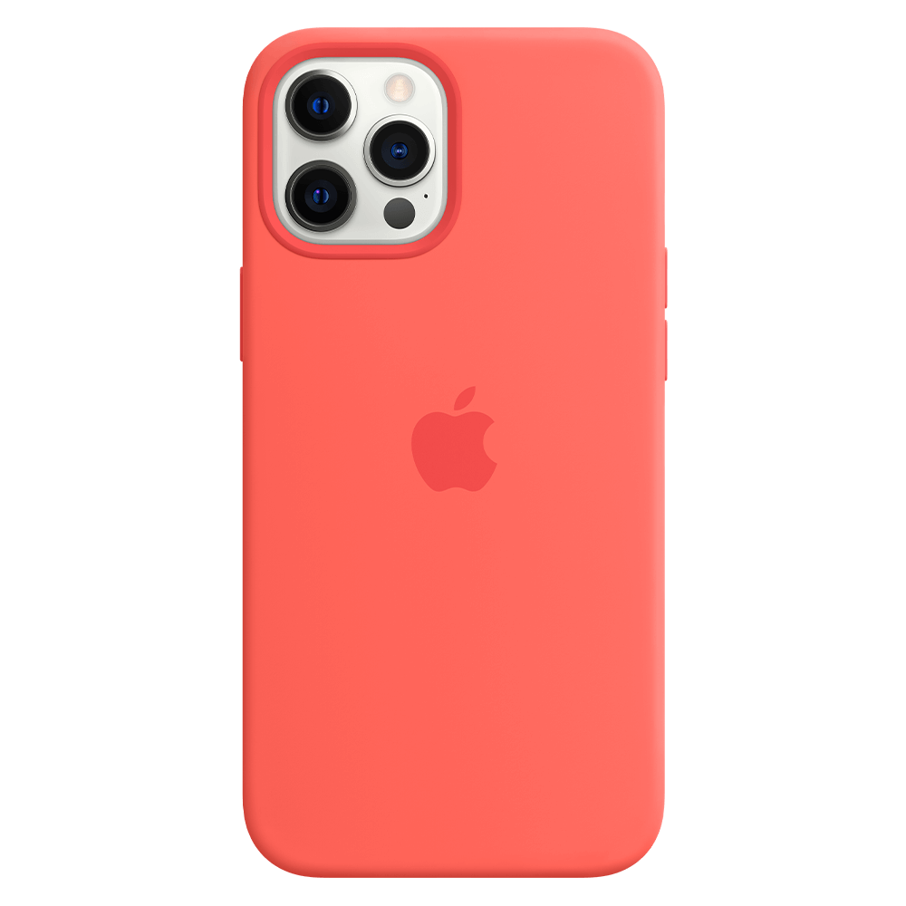 Apple Silicone Case with MagSafe for Apple iPhone 12 Pro Max - Pink Citrus