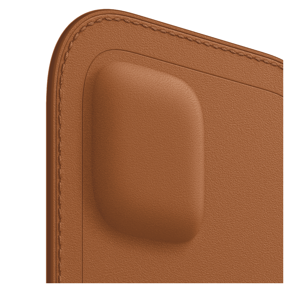 Apple Leather Sleeve with MagSafe for Apple iPhone 12/12 Pro - Saddle Brown