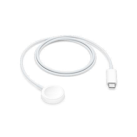 Apple Watch Magnetic Fast Charger to USB-C Cable 1m - White