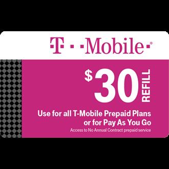 $30 Prepaid Refill Card