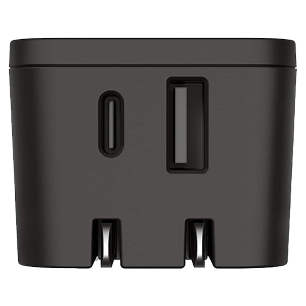 GoTo Dual USB A and USB C Wall Charger - Black