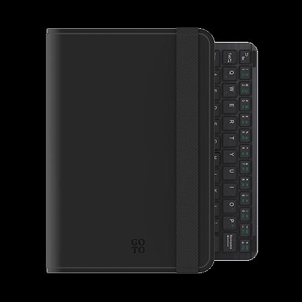 GoTo Universal Folio Keyboard for 7-8 inch Tablets - Black