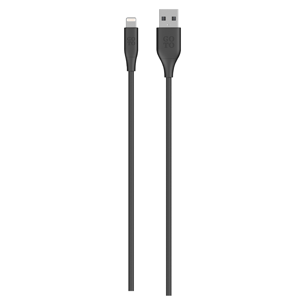 GoTo Lightning to USB A Cable 4 ft - Black