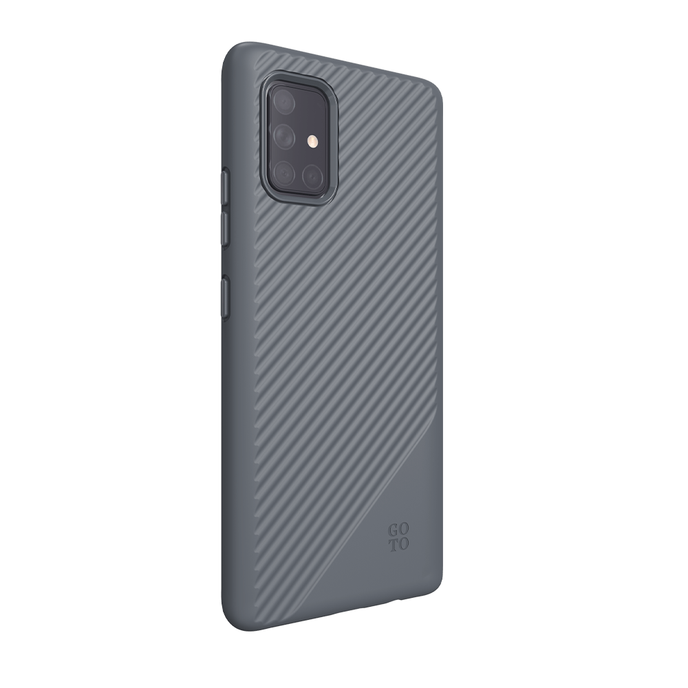GoTo™ Fine Swell 45 Case for Samsung Galaxy A71 - Graphite Grey