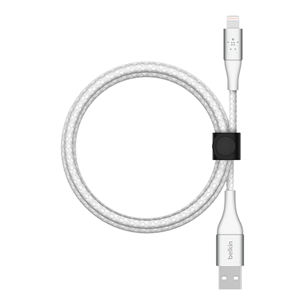 Belkin BOOST CHARGE Braided Lightning to USB-A Cable 2m - White