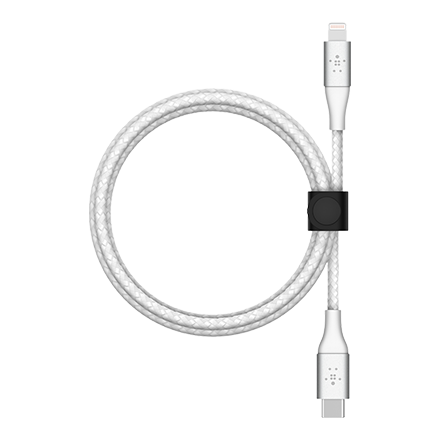 Belkin BOOST CHARGE Braided USB-C to Lightning Cable 2m - White