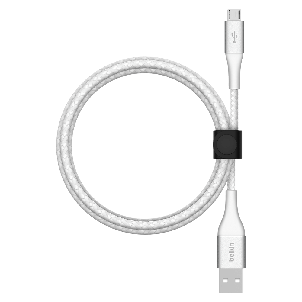 Belkin BOOST CHARGE Braided USB-A to Micro USB Cable 2m - White