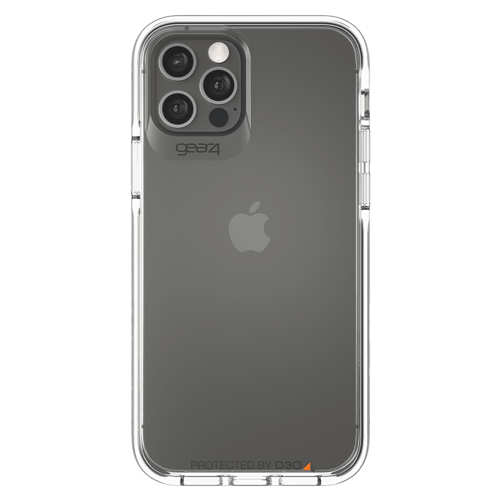 Gear4 Piccadilly Case for Apple iPhone 12/12 Pro - Clear/Black
