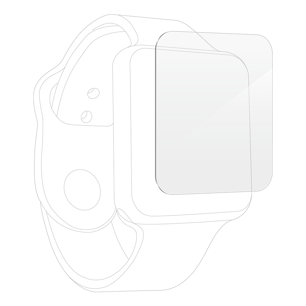 InvisibleShield UltraClear+ Screen Protector for Apple Watch Series 7 45mm