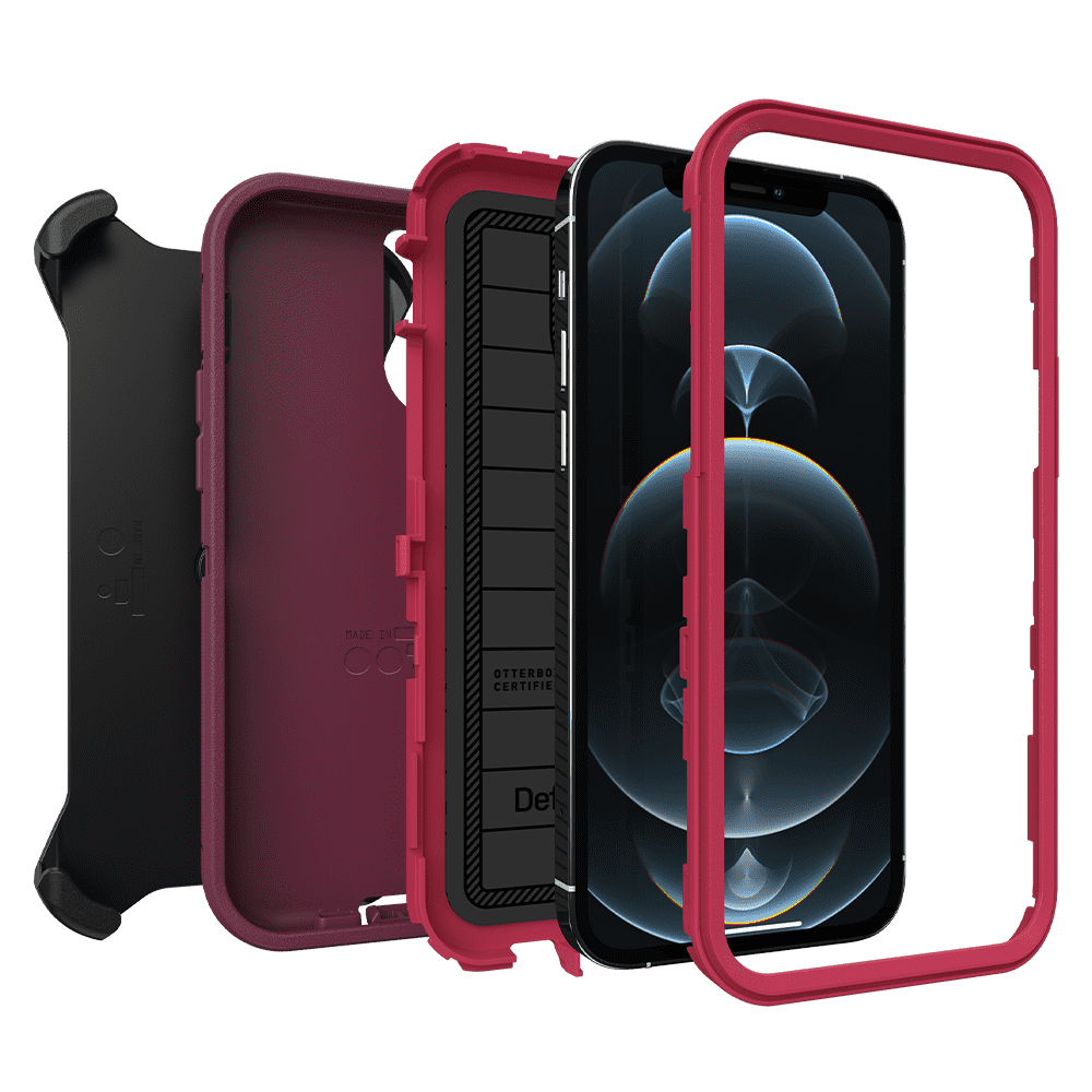 Otterbox Defender Series Pro Case for Apple iPhone 12/12 Pro - Berry Potion