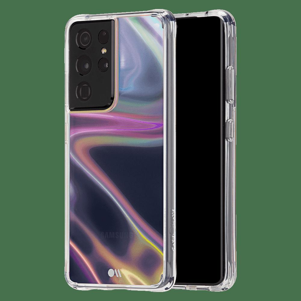 Case-Mate Soap Bubble Case for Samsung Galaxy S21 Ultra 5G - Iridescent