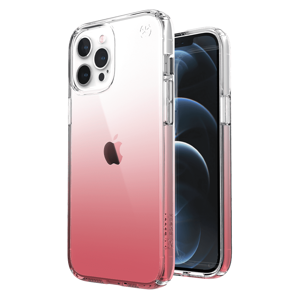 Speck Presidio Clear Ombre Rose Case for Apple iPhone 12 Pro Max - Rose