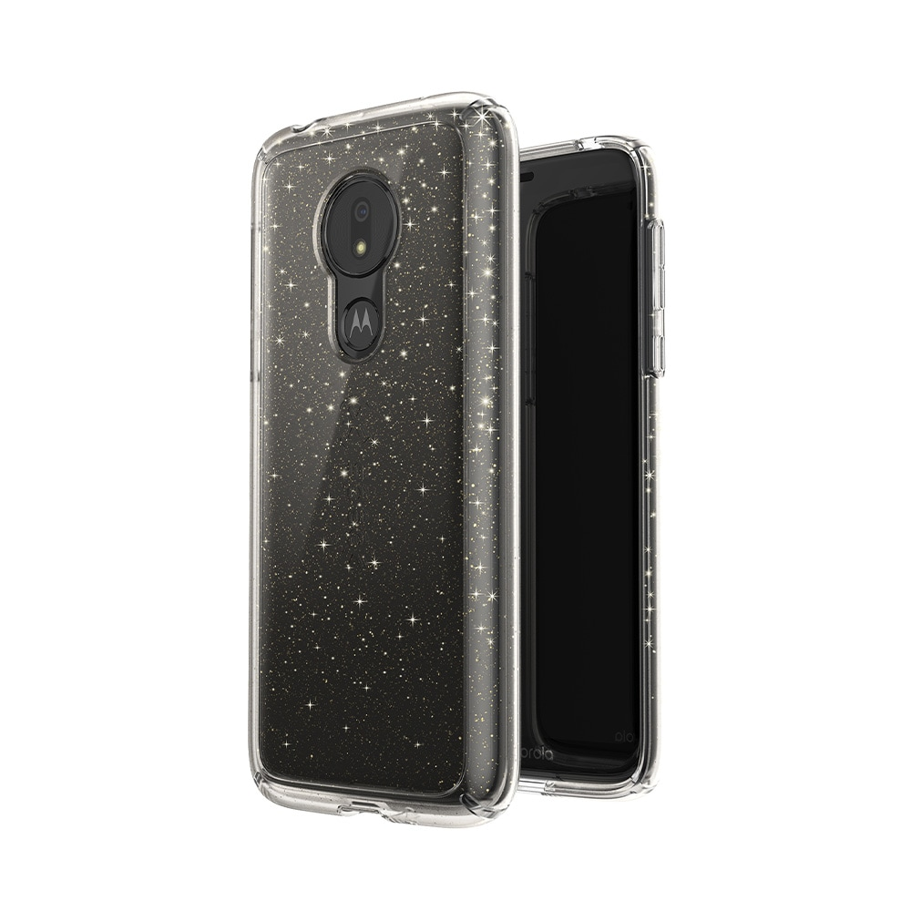 Speck Gemshell Case for Moto G7 Power - Gold Glitter