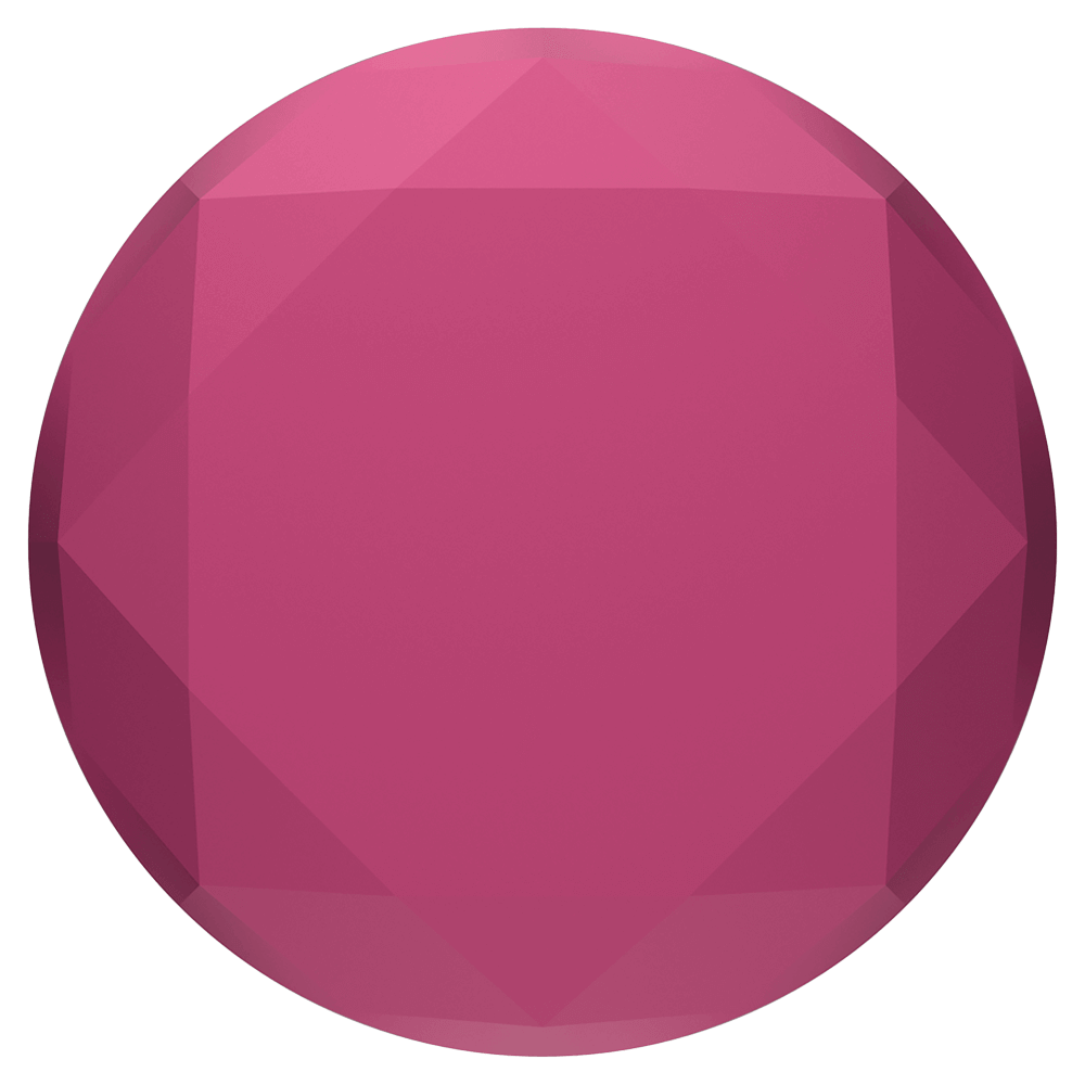 PopSockets PopGrip - Metallic Diamond Plum Berry
