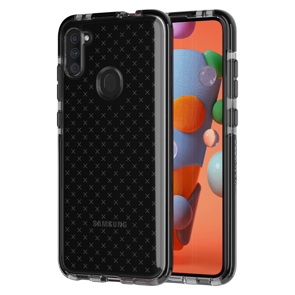 Tech21 Evo Check Case for Samsung Galaxy A11 - Smokey/Black