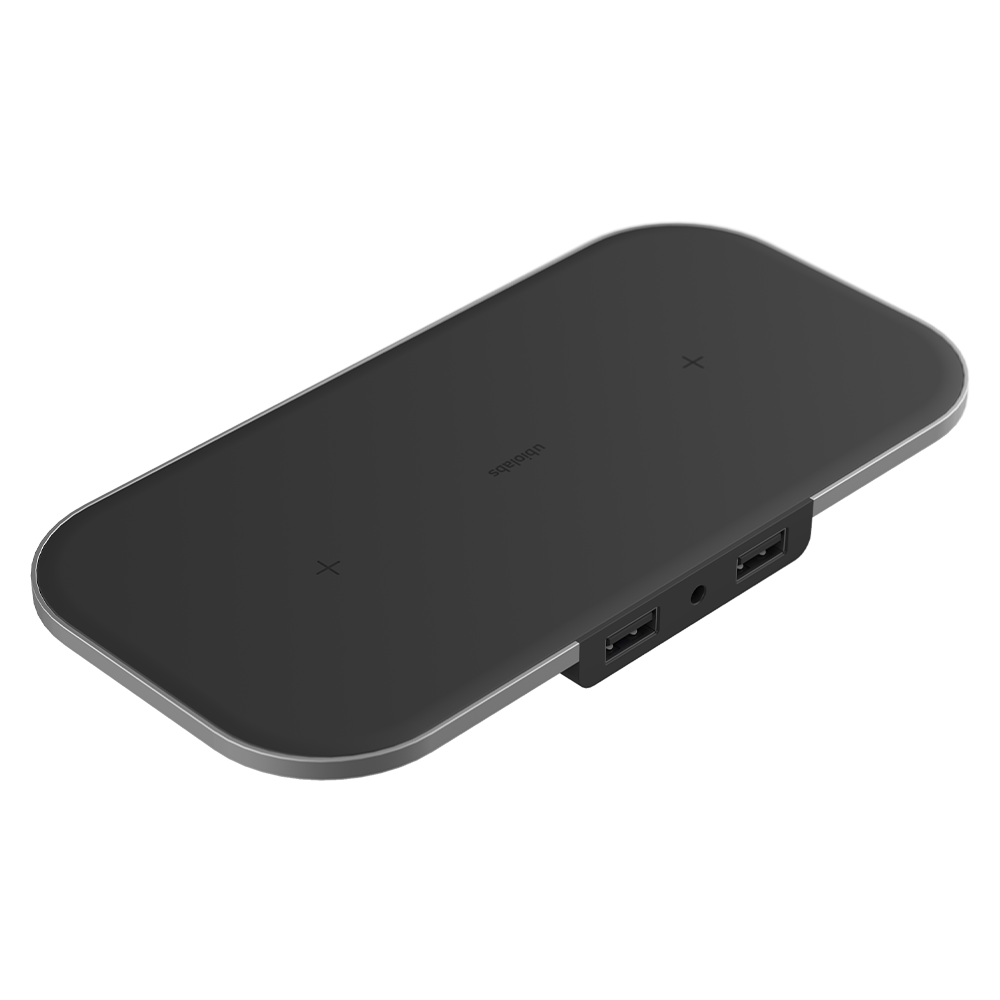 Ubio Labs Aspect Dual 15W Wireless Charging Pad - Black