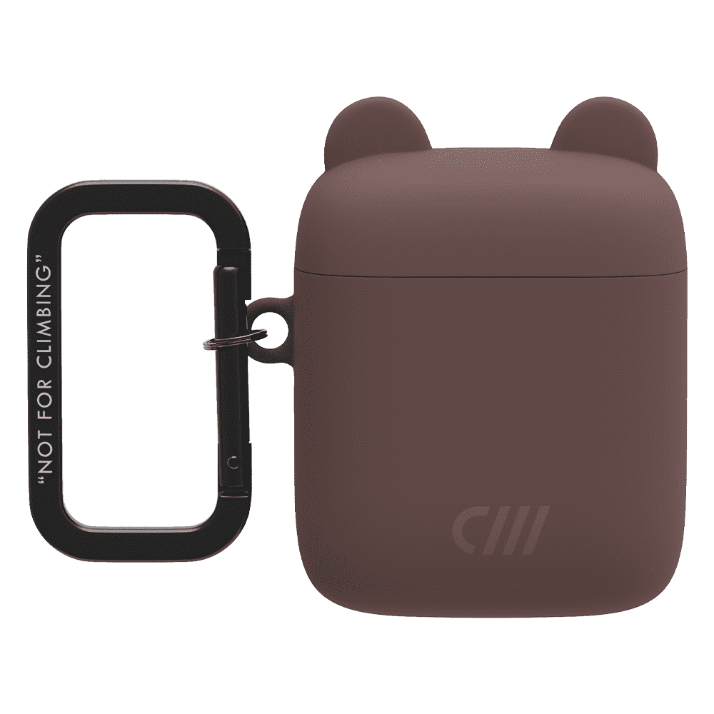 Candywirez Silicone Bear AirPods Case - Brown Bear