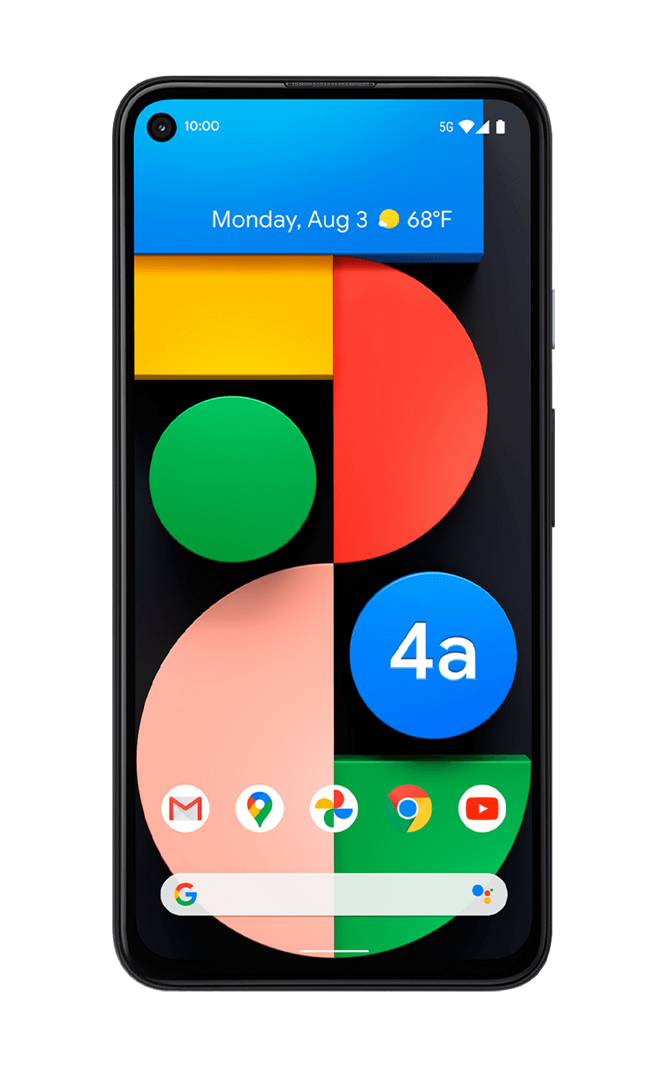 Front View Pixel 4a (5G) Just Black