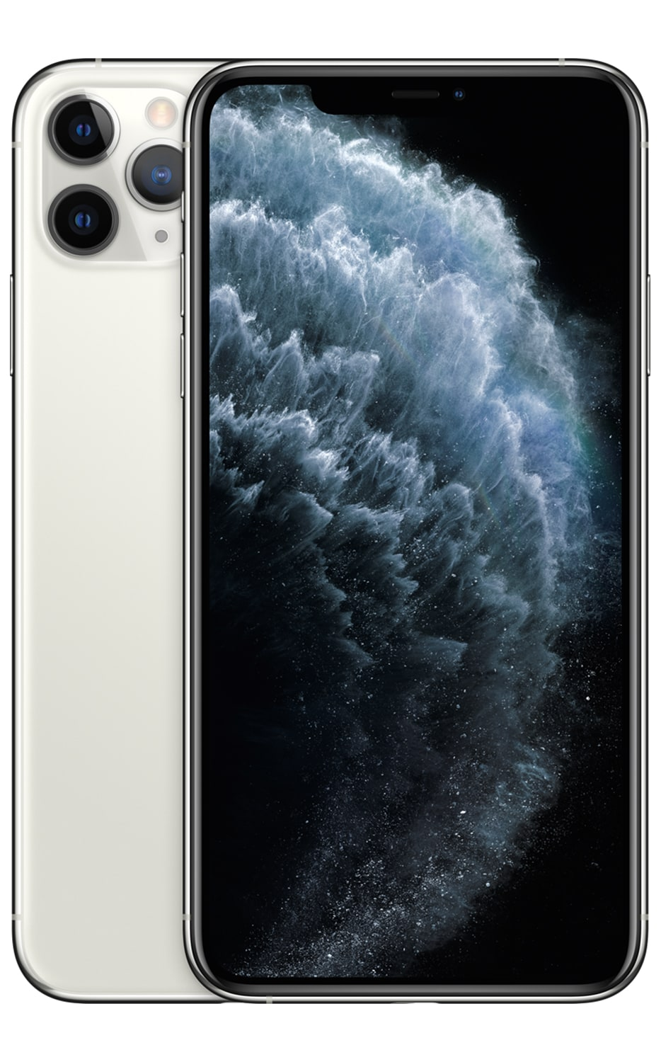 Front View iPhone 11 Pro Max Silver