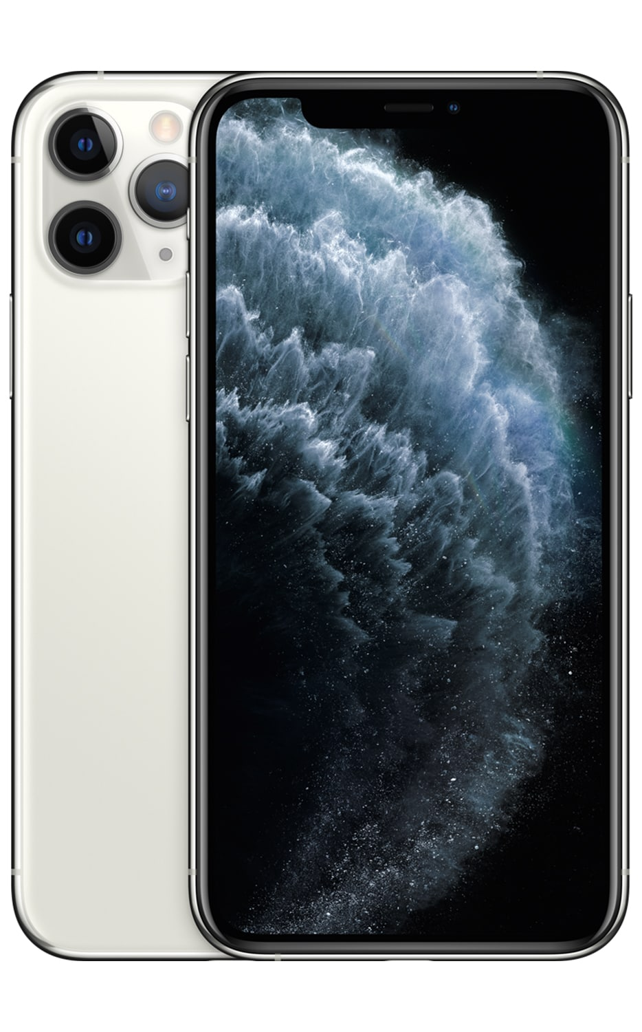 Front View iPhone 11 Pro Silver