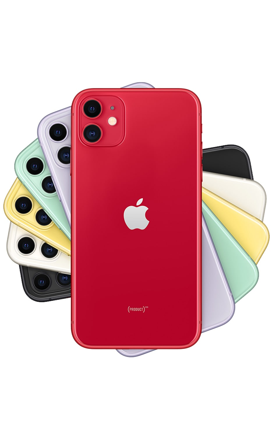 Vista trasera del iPhone 11 - (PRODUCT)RED