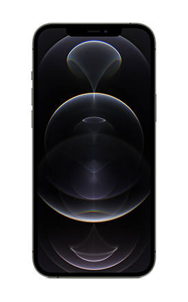 Front View iPhone 12 Pro Max Graphite