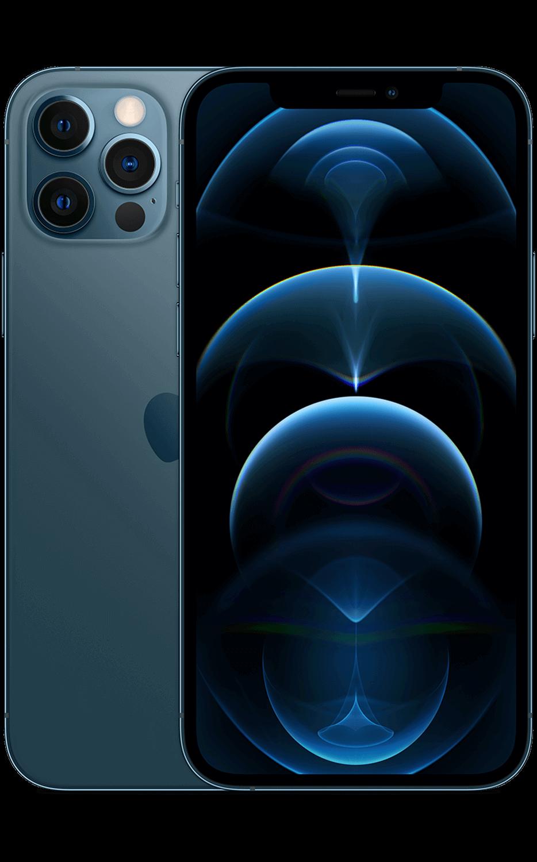Vistafrontal del iPhone 12 Pro - Azul pacífico