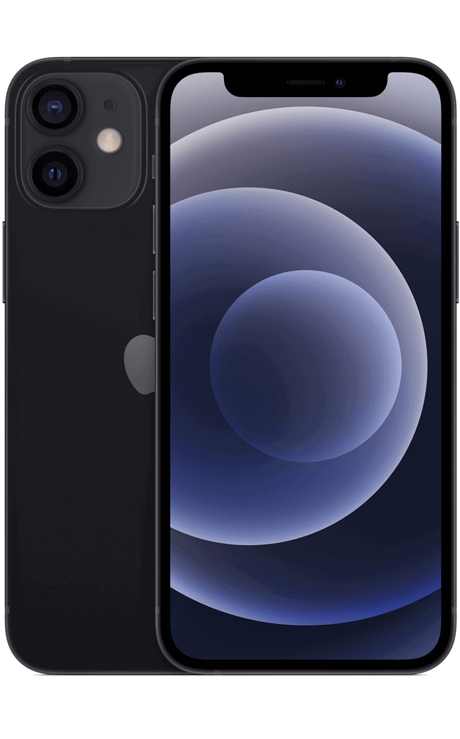 Front View iPhone 12 mini Black