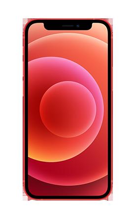 Vista frontal del iPhone 12 mini -(PRODUCT)RED