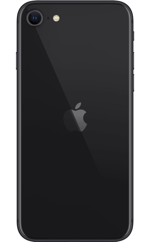 Vista trasera del iPhone SE - Negro