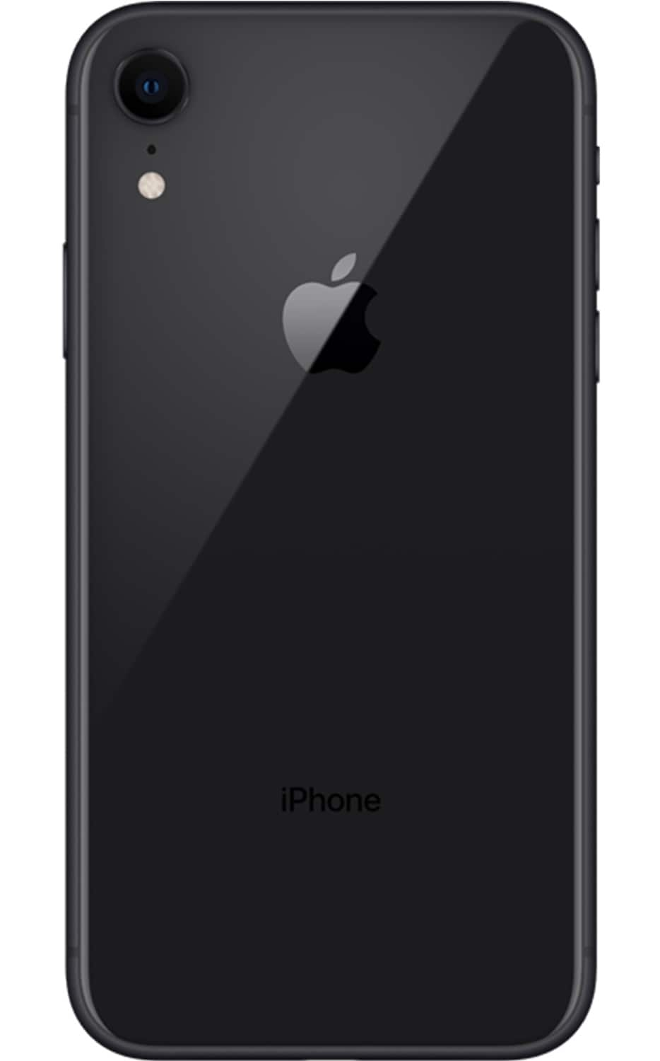 Rear View iPhone XR Black
