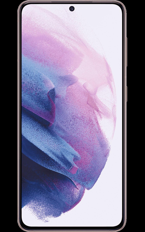 Front View Samsung Galaxy S21 5G Phantom Violet