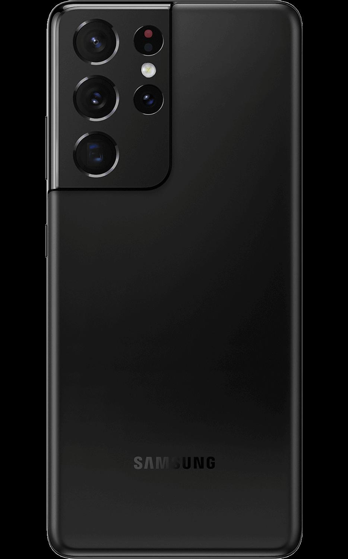 Rear View Samsung Galaxy S21 Ultra 5G Phantom Black
