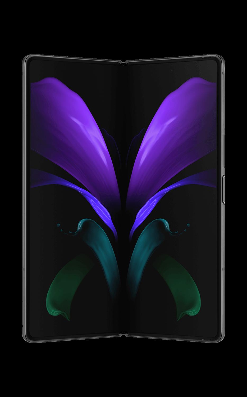 Vista frontal del Galaxy Z Fold2 5G - Mystic Black