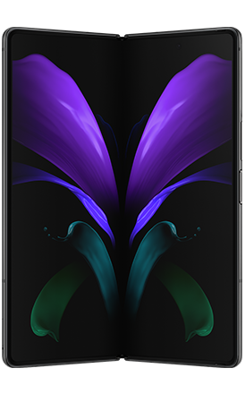 Front View Galaxy Z Fold2 5G Mystic Black