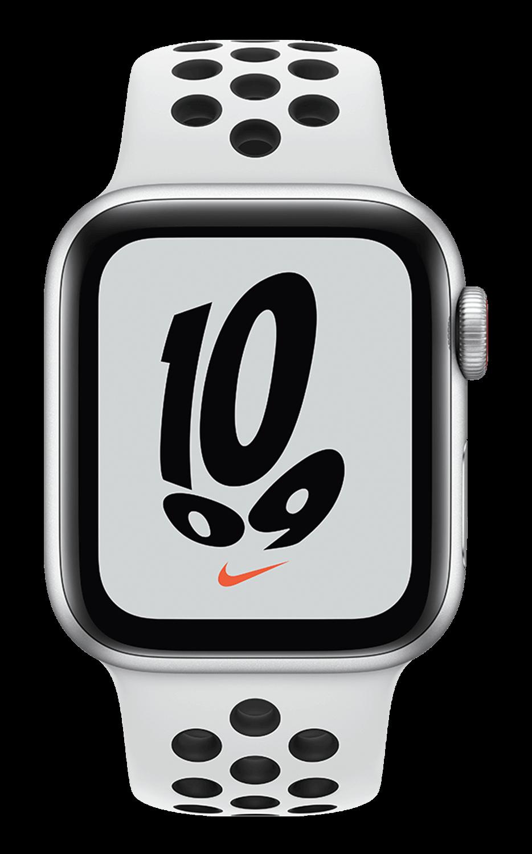Apple Watch Nike SE 44mm - Silver AL - Plat Black Band