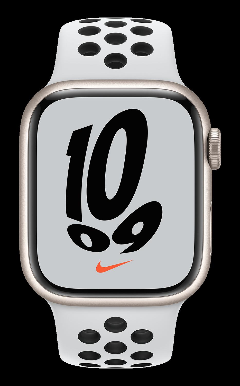 Apple Watch Nike Series 7 41mm - Starlight AL - Black