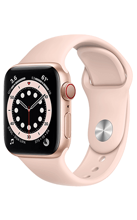 Front View Watch Series 6 40mm Gold Aluminum Pink Band