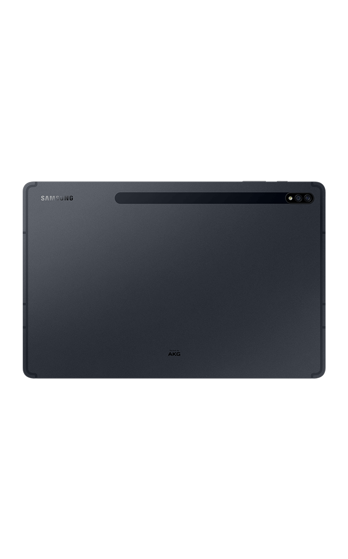 Rear View Galaxy Tab S7-Plus 5G Mystic Black