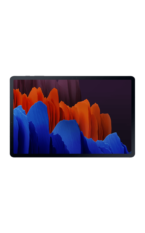 Front View Galaxy Tab S7-Plus 5G Mystic Black