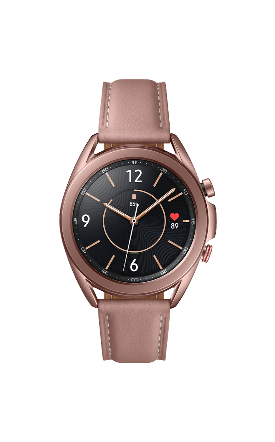 Front View Galaxy Watch3 41mm Mystic Bronze